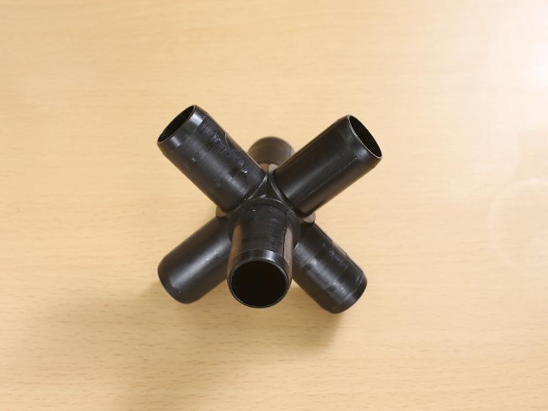 ジョイント (6方)黒 JST-6X