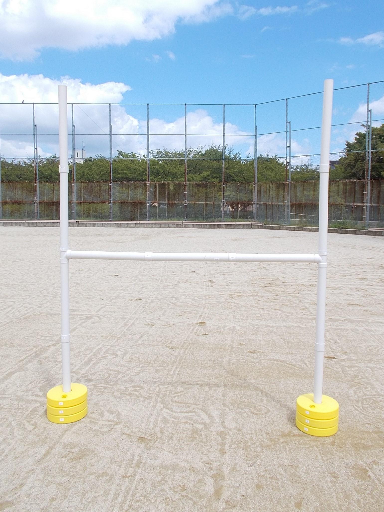 組立式ラグビーゴールセット(ミニHポール)
