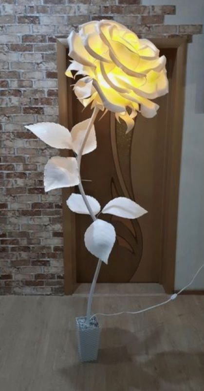 パイプを使った造花2